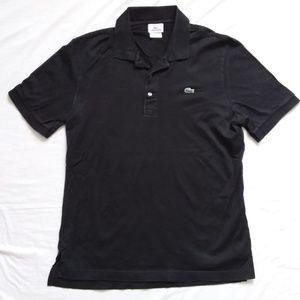 Lacoste Black Polo Shirt Men's 4 Medium M